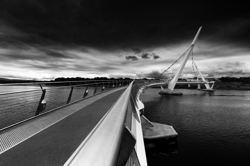 The Peace Bridge in Derry by John Mee Photography