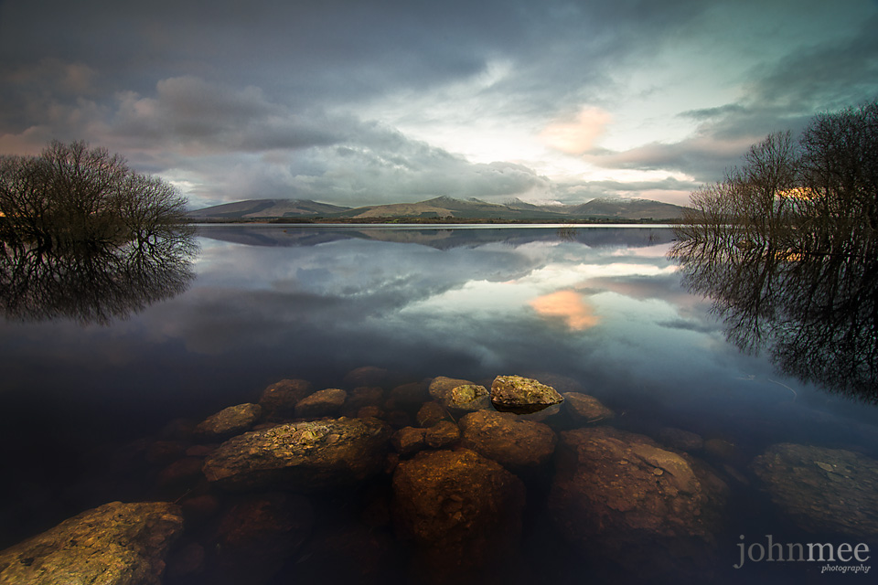 Evening light at Beltra Lough by John Mee photography